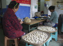 Making Dumplings Stock Image