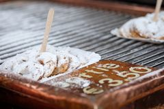 Making of Dutch pancake Royalty Free Stock Photo