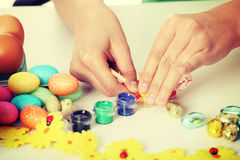 Making easter decoration Stock Photos