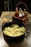 Making the Elderflower cordial - first step Royalty Free Stock Photos