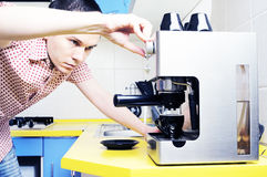 Making Espresso. Stock Image