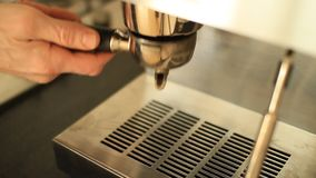 Making espresso stock footage