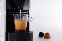 Making an espresso coffee Stock Images