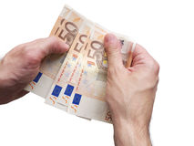 Making Euro Business Concept Stock Image
