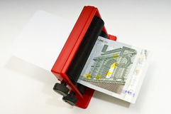 Making Euros stock images