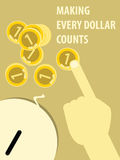 Making Every Dollar Counts Illustration Royalty Free Stock Photo