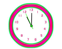 Making extra time clock - isolated Stock Images