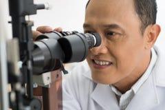 Making eyesight test Royalty Free Stock Image