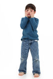 Making Faces. Adorable five year old boy making faces Royalty Free Stock Photos