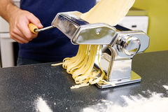 Making Fettuccine Royalty Free Stock Photography