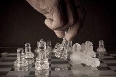 Making The Final Move. Conceptual Image of Making The Final Move Stock Images
