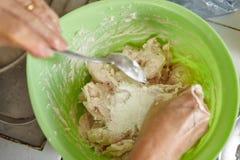 Making fish cake Royalty Free Stock Photos