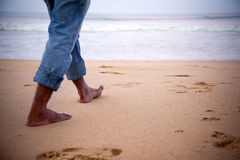 Making Foot Steps Stock Images