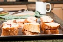 Making French Toast Stock Photo