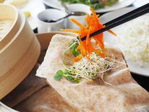 Spring roll Stock Image