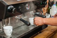 Making fresh coffee Royalty Free Stock Photo
