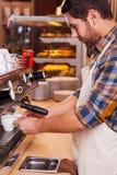 Making fresh coffee. Stock Photo