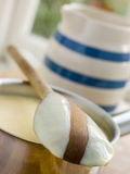 Making Fresh English Vanilla Custard Stock Images