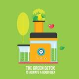 Making fresh organic juice and smoothie Juicer Mixer Kitchen appliance Stock Photo