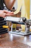 Making fresh pasta Royalty Free Stock Images