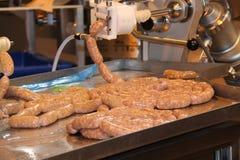 Making Fresh Sausages. Royalty Free Stock Photos