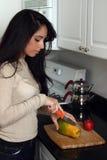 Making a fruit salad stock photo
