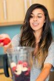 Making Fruit Smoothie Stock Photography