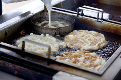 Making Funnel cake Stock Images