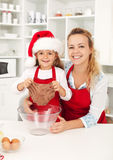 Making gingerbread cookies Stock Photography