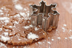 Making gingerbread cookies for Christmas Royalty Free Stock Photo
