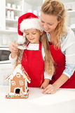 Making gingerbread house Stock Images