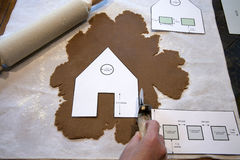 Making a Gingerbread House royalty free stock images