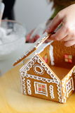 Making of gingerbread house Royalty Free Stock Photography