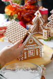 Making of gingerbread house Stock Photo