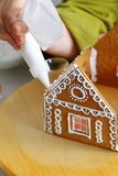 Making of gingerbread house Stock Photos