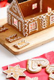 Making of gingerbread house Royalty Free Stock Photo