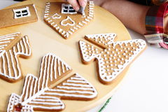 Making of gingerbread house Stock Image