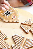Making of gingerbread house Stock Photography