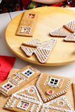 Making of gingerbread house Royalty Free Stock Images