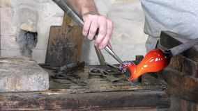 Making glass sculptures in Murano Italy