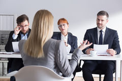 Making a good first impression can be a beginning of a career stock photo