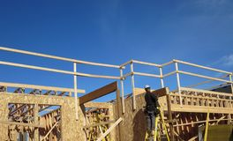 Making of ground floor. One of the house being constructed by a builder in vancouver washington royalty free stock image