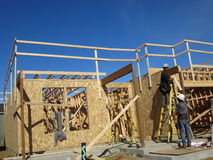 Making of ground floor. One of the house being constructed by a builder in vancouver washington stock photo
