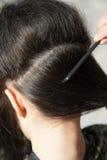Making hair parting Stock Photos