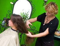 Making haircut Royalty Free Stock Images