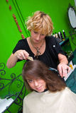 Making haircut Royalty Free Stock Image