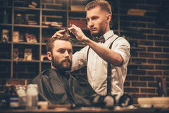 Making haircut look perfect. Stock Photography