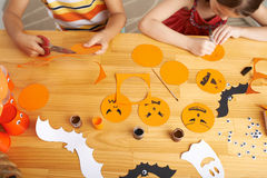 Making Halloween decorations Stock Photo