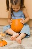 Making halloween latern Stock Photos