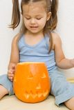 Making halloween latern Stock Photography